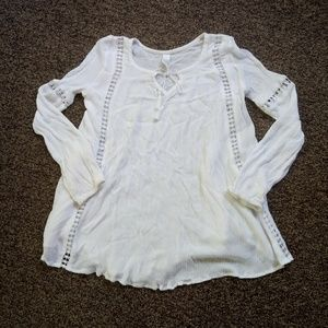 3+ item bundle only white flowy long sleeve XS